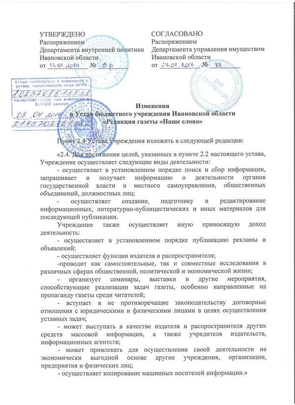 сайтИзменение в устав_2014